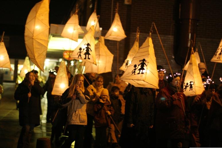 Silverdale, Staffordshire. 2004. Lantern Procession, for bArts