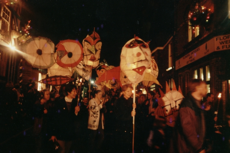 Congleton 1994. Christmas Procession. Workshop leader.